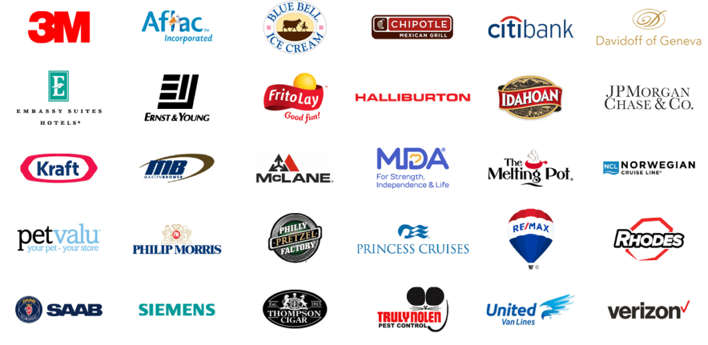 Corporate Entertainment Client Logos.
